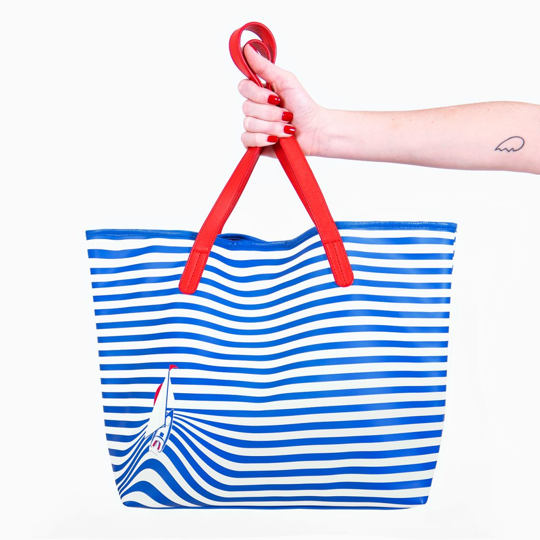 Sail Away Stripes Tote Bag by La Come Di