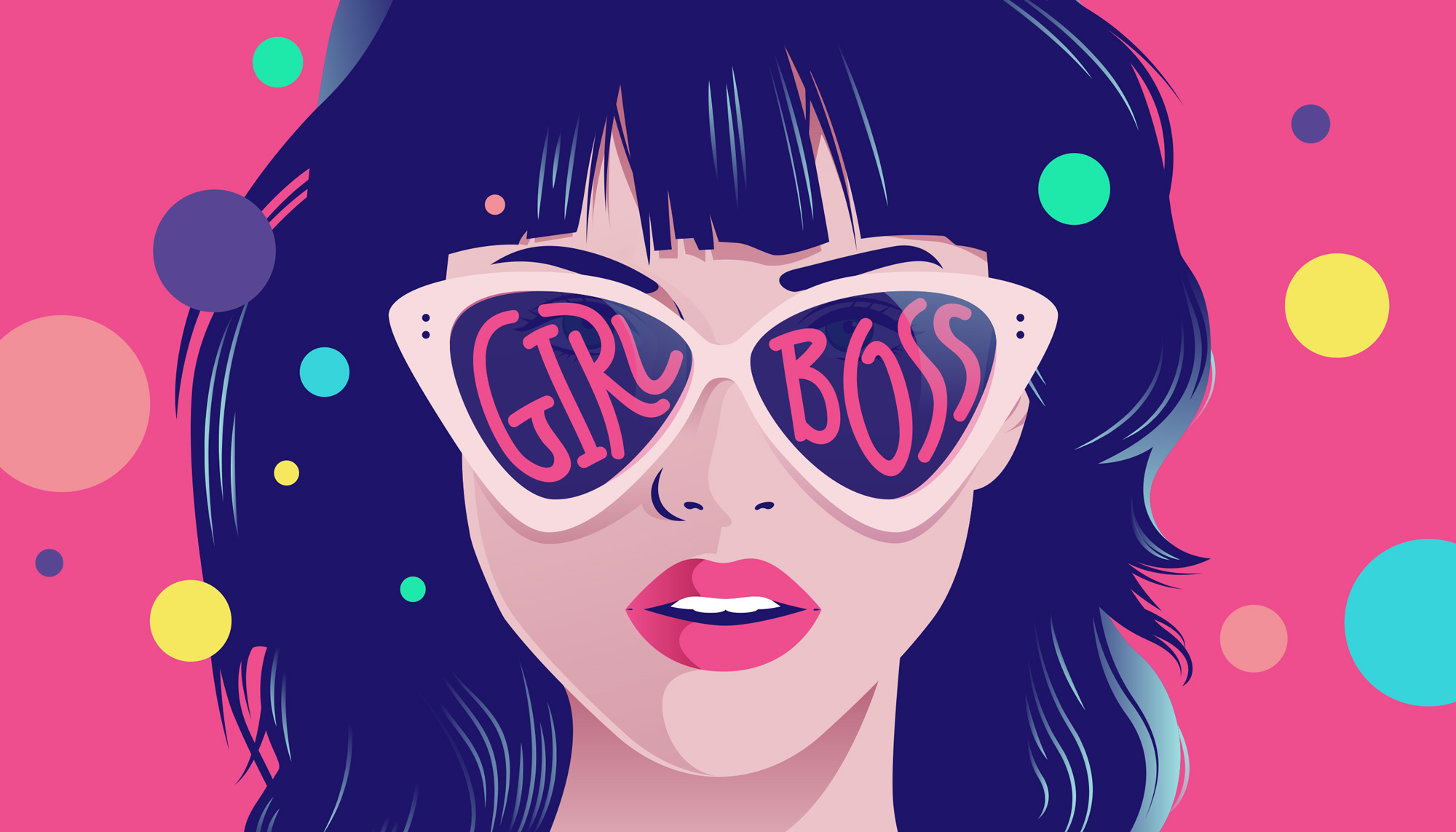 GIRLBOSS Illustration by La Come Di